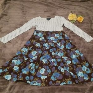 Mini Boden Dress with blue flowers